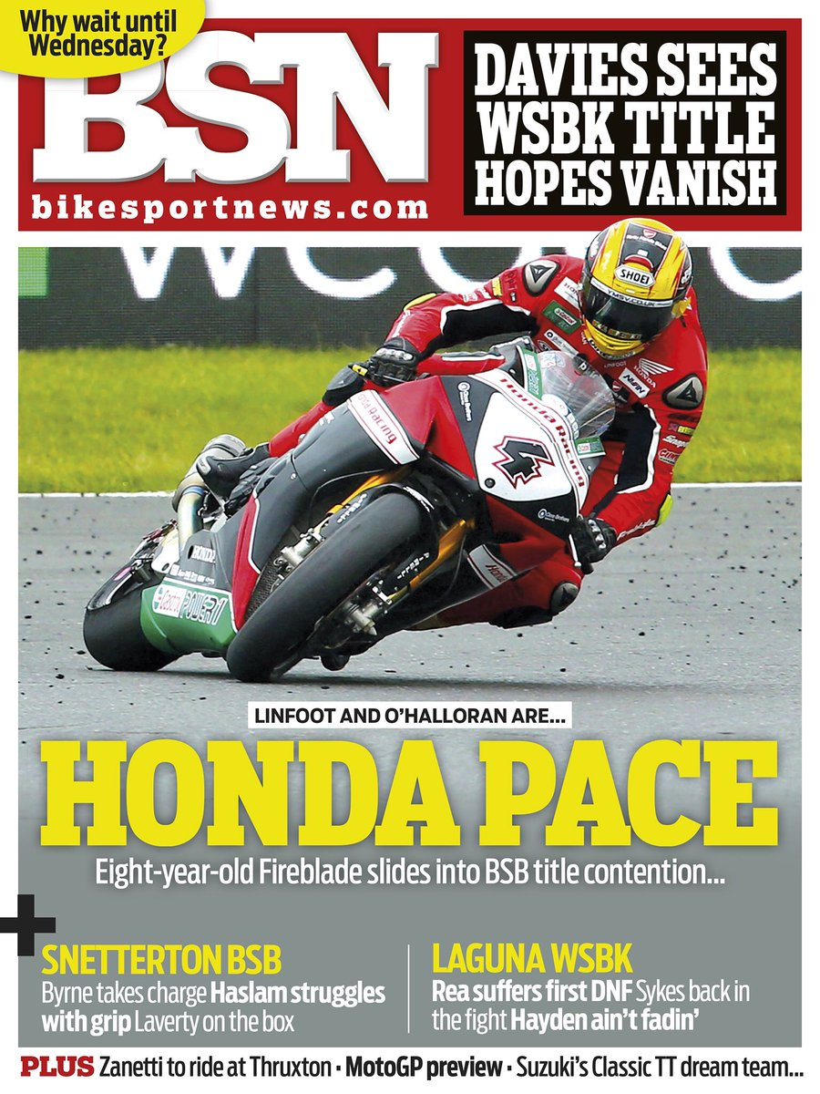 Nice to make the front cover of @bikesportnews online magazine today.