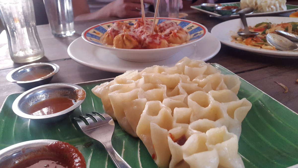 some meal is needed to gain some energy  COOL  :)  #openmomo and #cheesemomo  #travel #restaurant #Nepal #momopic.twitter.com/5hojtP6dEf