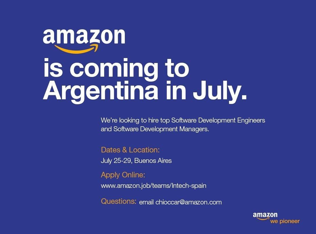 Amazon busca ingenieros en la Argentina para trabajar