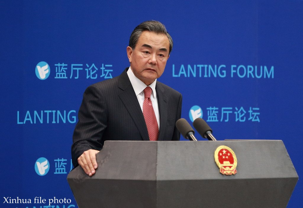 Chinese Foreign Minister Wang Yi says #SouthChinaSea arbitration is a political farce made under pretext of law