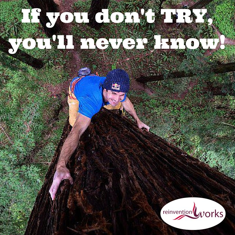 If you don't TRY, you'll never know! @ReinventionWork Inspiration for the Day! https://t.co/xi0Difcv2Q