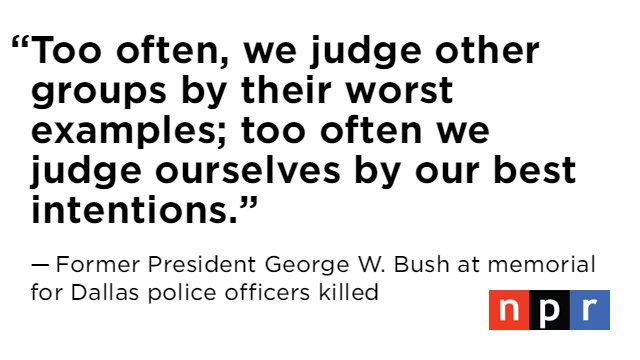 Powerful words from former President George W. Bush https://t.co/2jVcPa7t0G