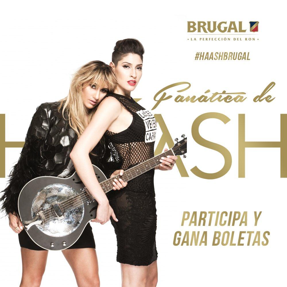 ¿Quieres ir al concierto de @haashoficial? Mantente atento a la trivia. #HAASHconBrugal #BrugalLibertadDeSer https://t.co/1FHGX5Zjep