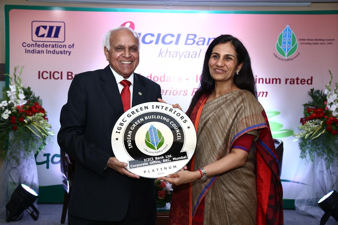 ICICI Bank tower Vadodara gets Green Building Council award for green interiors