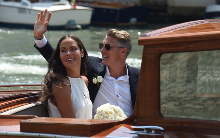Ana Ivanovic e Bastian Schweinsteiger, nozze veneziane (come Clooney)