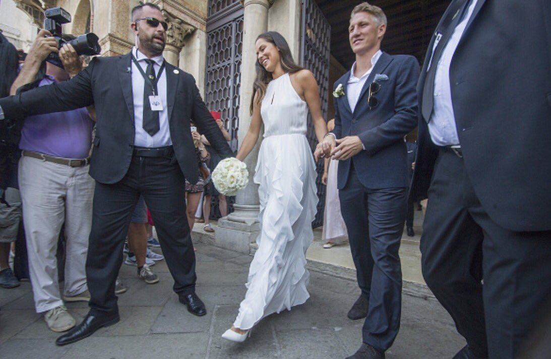 Ana Ivanovic e Bastian Schweinsteiger, sposi a Venezia