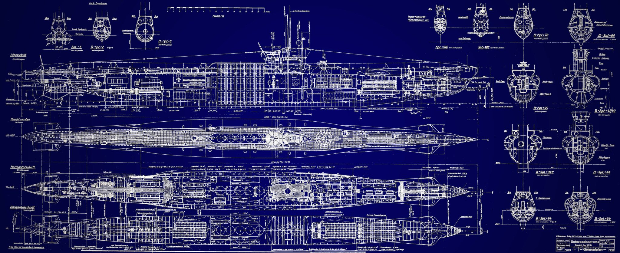 "Adrián Bertolini on Twitter: ""German U-Boat Submarine blueprint original, extremely detailed. # ..."