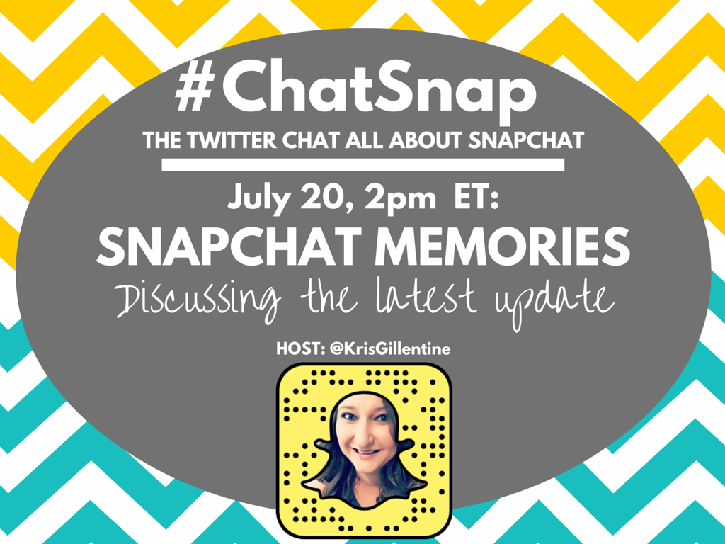 Today's #ChatSnap topic. Hope to see you at 2pm ET! Let me know if you have any questions! #snapchatmemories https://t.co/KWlNP1ROvj