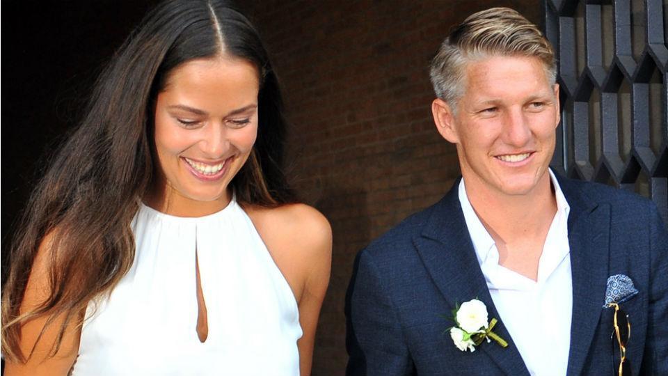 Nozze da sogno per il calciatore Schweinsteiger e la tennista Ivanovic, a Venezia