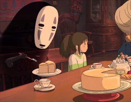Rachel On Twitter What Kind Of Cake Do You Think No Face Is Eating In Zeniba S House In Spirited Away