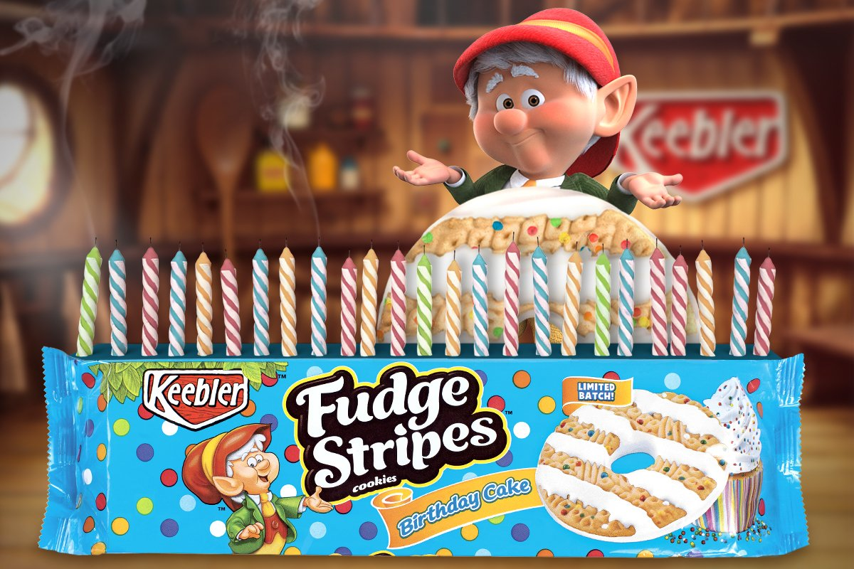 Ernie Keebler On Twitter Youre Not Supposed To Say What You Wished For But I More Birthday Cake Fudge Stripes Oops