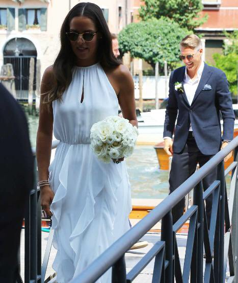Fiori d'arancio per Schweinsteiger e Ivanovic: la cerimonia a Venezia