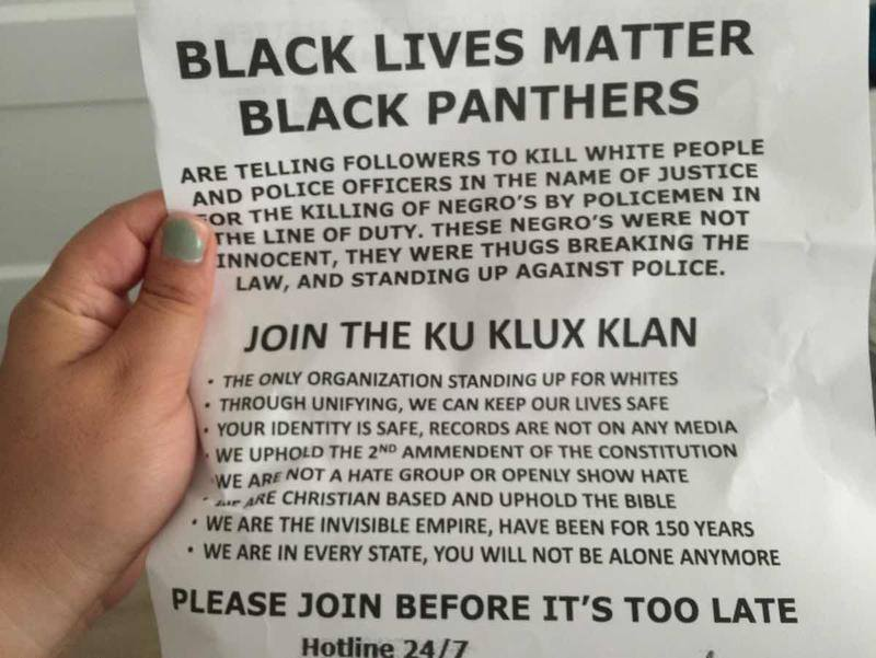 KKK is spreading this in San Francisco neighborhoods https://t.co/bt7E8T8dXf