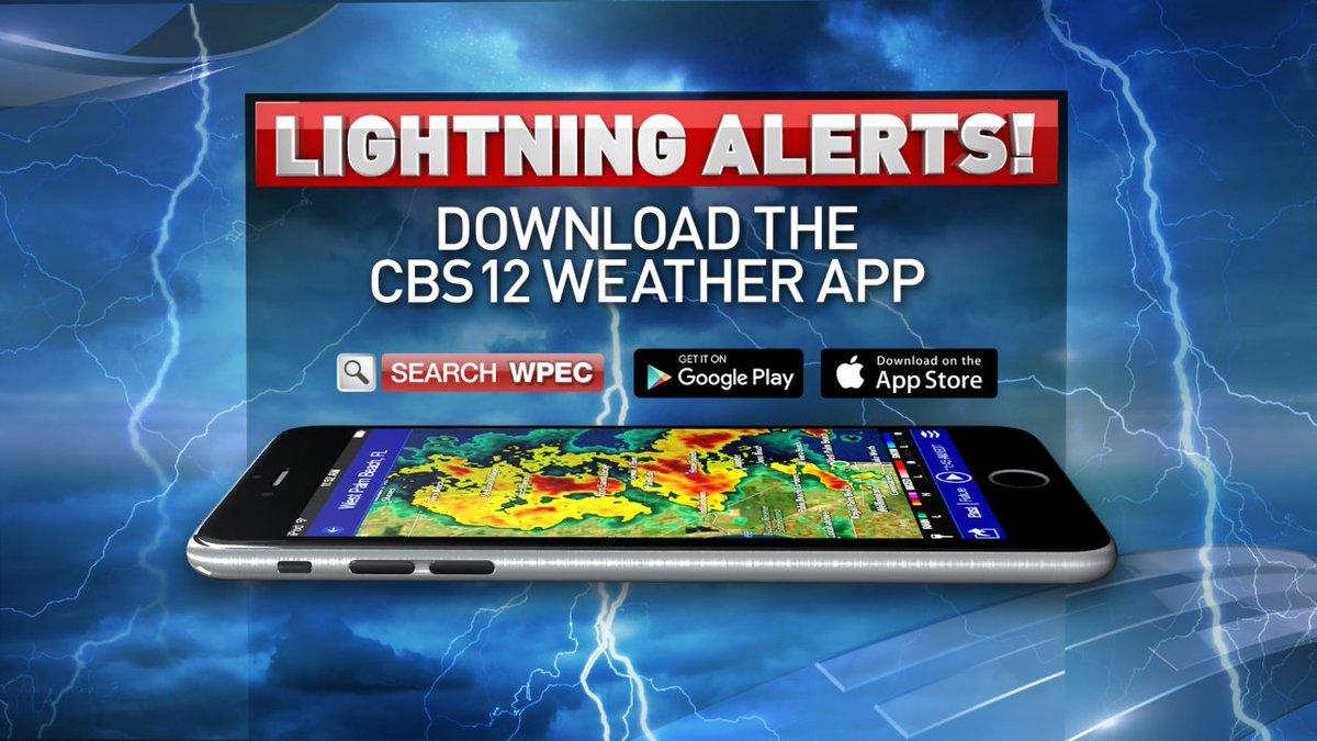 Lightning Alerts: New feature on CBS12 weather app: Lightning Alerts