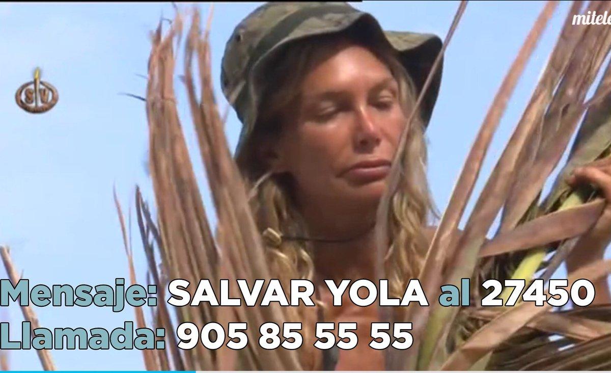 SALVAR YOLA al 27450 o llamada al 905855555. Nominación muy importante. #YolaGanadora #SVFinal Gracias https://t.co/igIWtov656