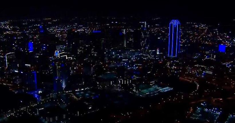 Dallas goes blue everywhere and it's beautiful! See photos https://t.co/F4QyCEEprq https://t.co/fCP6TUm12G
