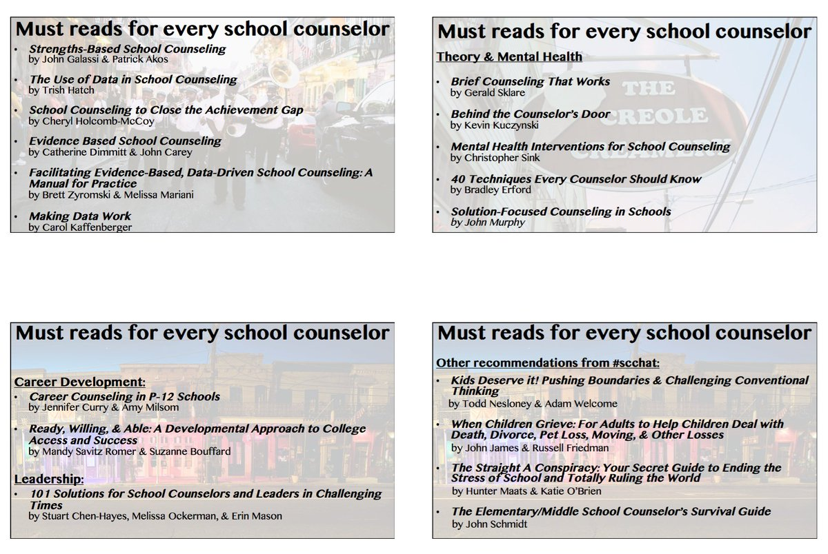 "Chris Belser on Twitter: ""Here's a list of ""must reads"" for SCs from my  #ASCA16 presentation. A few of my favs & recommendations from #scchat… """