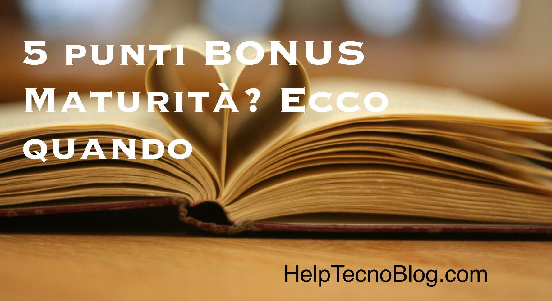 5 punti bonus esame