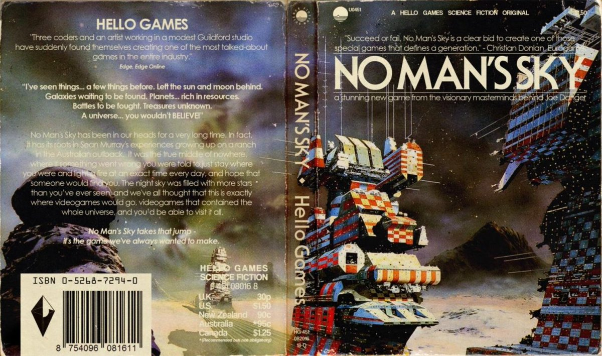 Nomanssky Art Gets Re Imagined As Old School 1970s Sci Fi Book