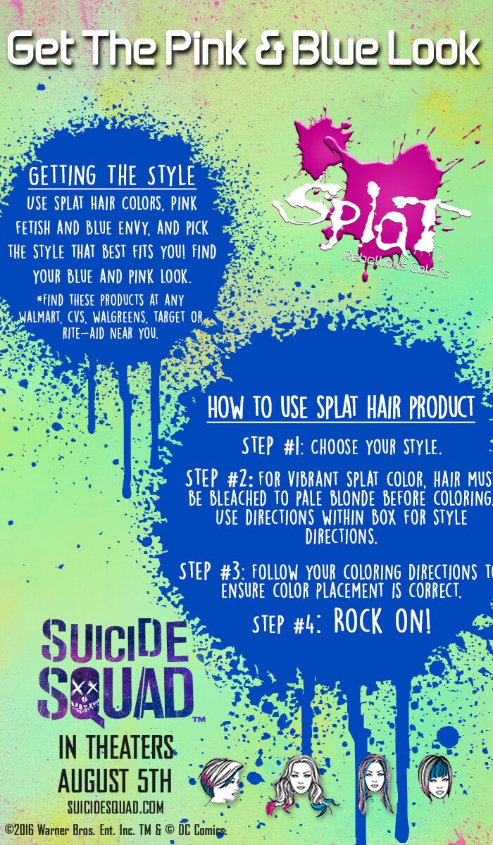 splat hair color instructions