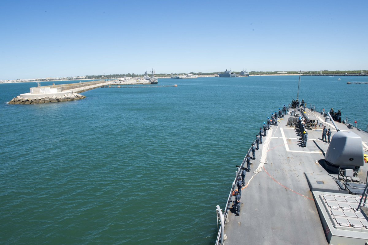 #USSDonaldCook completes 4th patrol in support of ballistic missile defense.