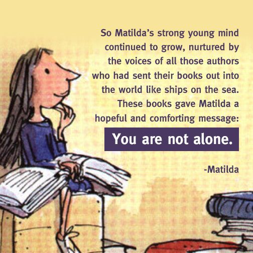 "Here's some #WednesdayWisdom from Roald Dahl's ""Matilda""! https://t.co/XR9pVREwol"