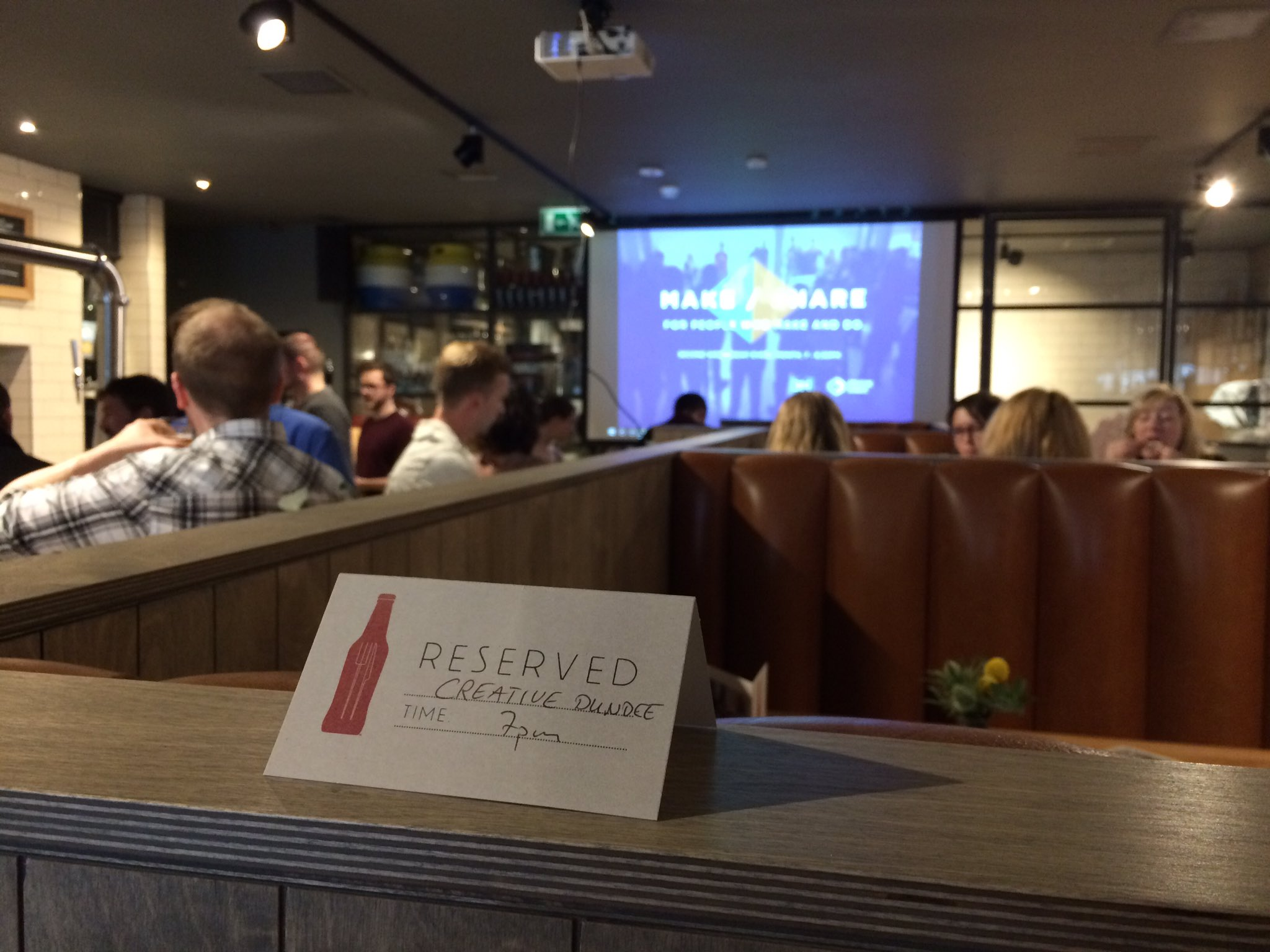 .@BeerKitchenDUN is filling up for #MakeShare tonight! Talks will start soon 😊 https://t.co/StDF0CFclN