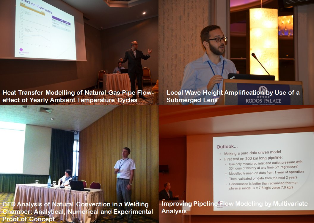 Uni Polytec scientists presented the results of 4 research projects #ISOPE Greece #waves #hydrodynamics #CFD #subsea
