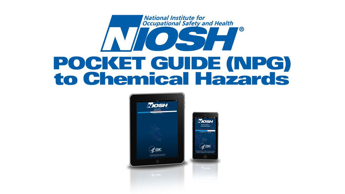 The NIOSH Pocket Guide App is now available, providing information on chemical hazards https://t.co/0eaLDWhMLj https://t.co/STmZWkbd3C