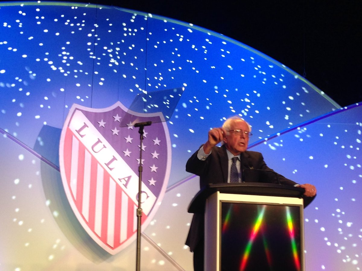 .@BernieSanders speaks on immigration reform, criminal justice reform, and pay equity at #LULAC16 convention. https://t.co/4AlujU1Wc9
