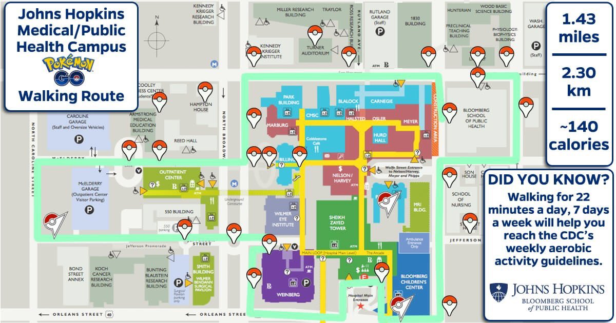 Hopkins Medical Campus Map.Pokemon Go Baltimore On Twitter Look At This Awesome Map Of John