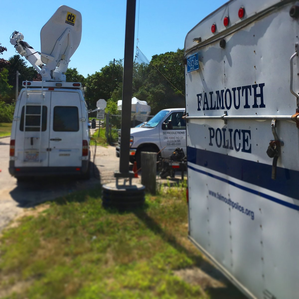 THX to @falmouth_police for use of their impound lot @WarehamGatemen visit @FalCommodores on @FoxCollegeSport @6pm