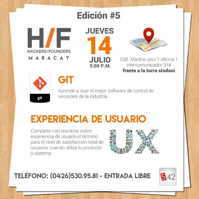 Mañana es la 5ta Edición de Hackers and Founders Maracay | Entrada libre https://t.co/u1IadKHGsH https://t.co/DIUk74S4xW