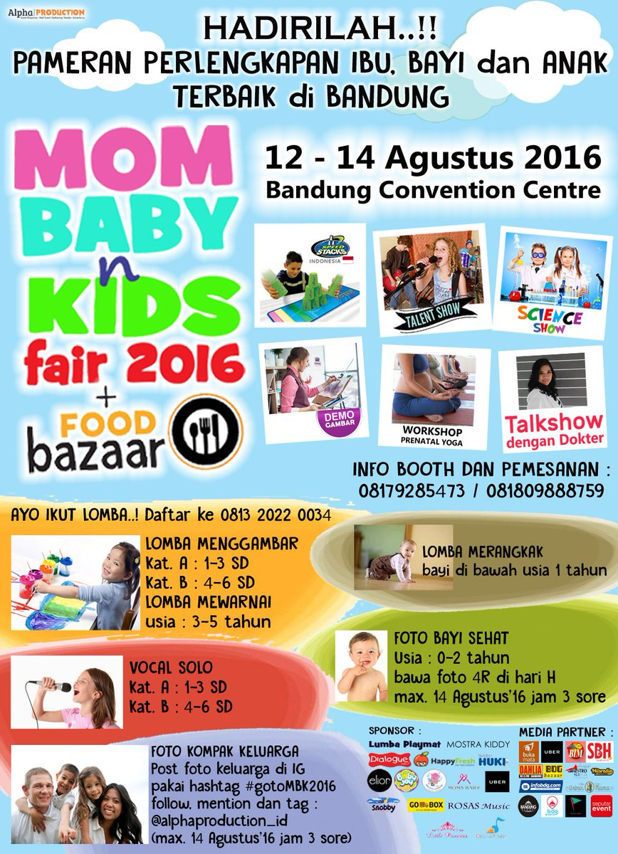 Bandung On Twitter Today Is The Day Mom Baby N Kids Fair 2016