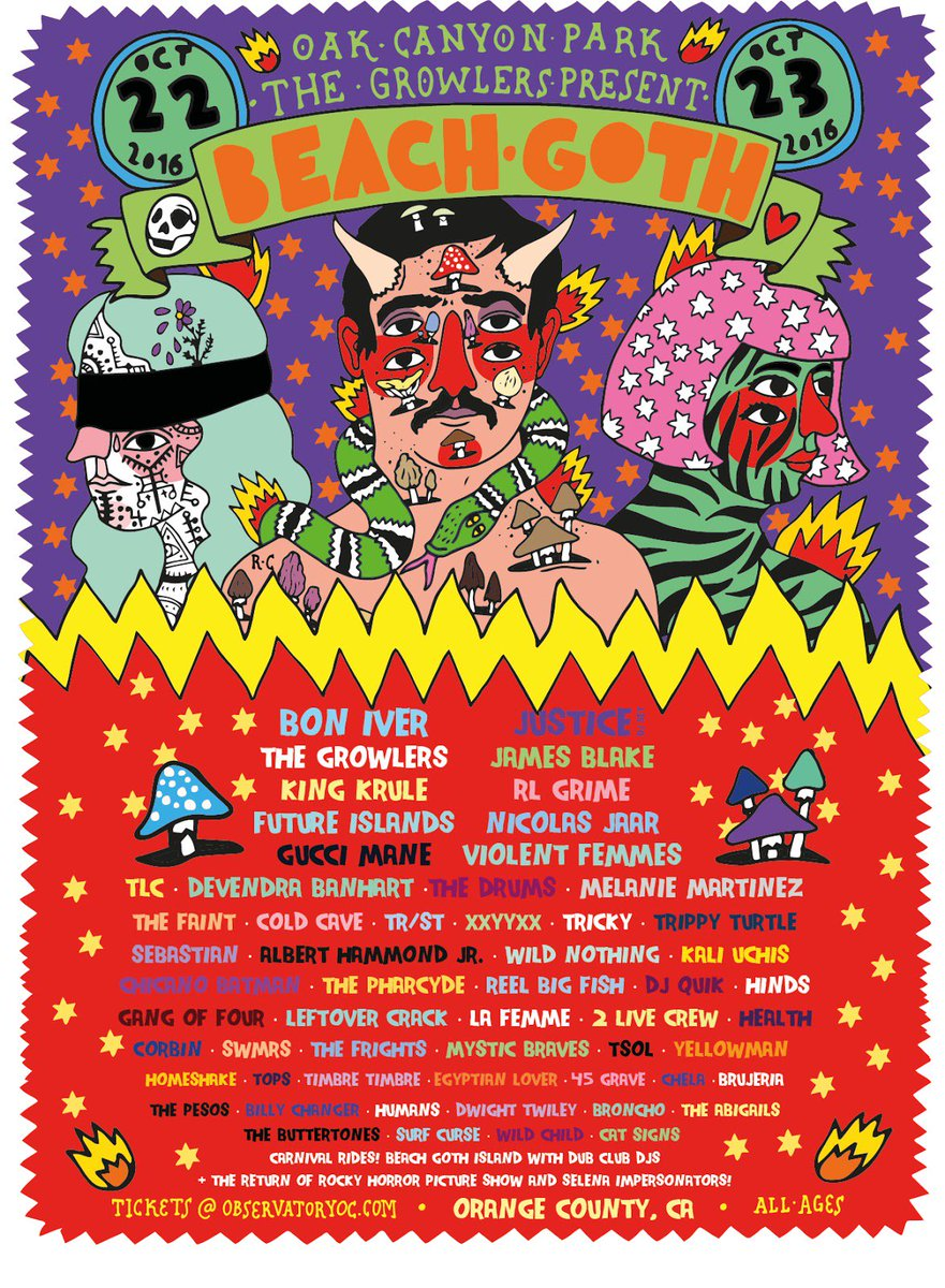 Beach Goth once again making every other festival lineup look safe lazy and predictable https://t.co/cwPQlVHGj8