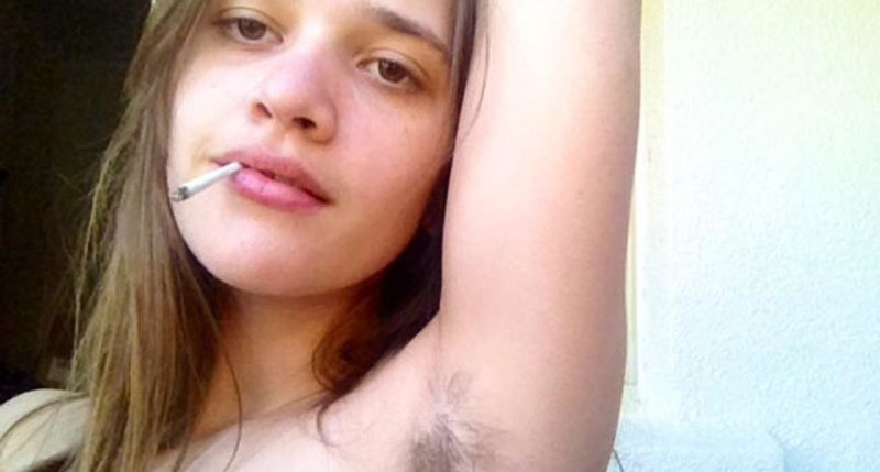 Think, that Girls with body hair were mistaken