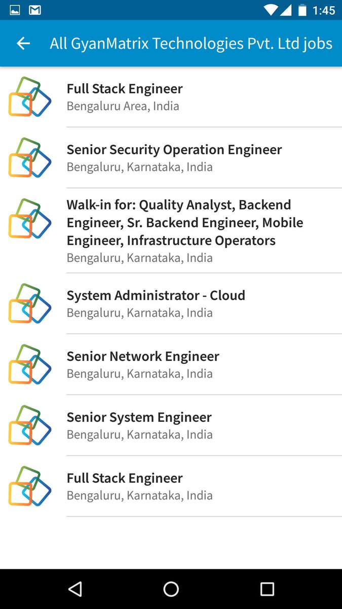Wow! These many openings in @GyanMatrix ? https://t.co/lJ41OvD5VA