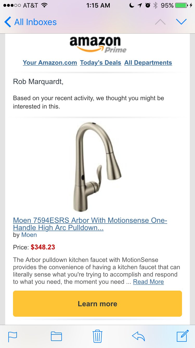 WE SEE YOU'VE BOUGHT A KITCHEN SINK FAUCET HAVE YOU CONSIDERED BUYING TWO KITCHEN SINK FAUCETS https://t.co/UZ2uyOAhuu