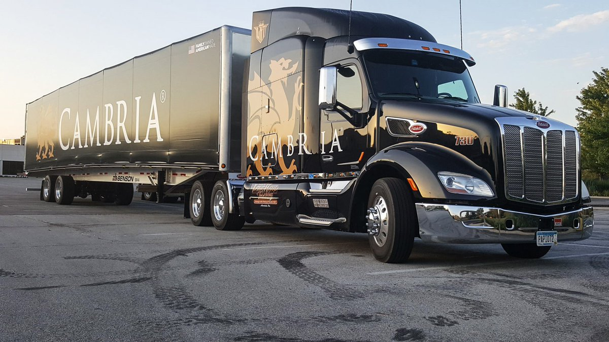 Company Driver Brad Beuthien in Dyer, IN. This is one of the newest trucks in the fleet! #Cambria