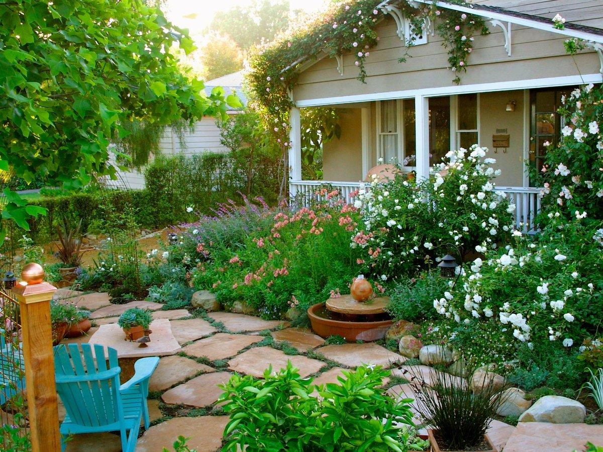 дизайн огорода около дома фото