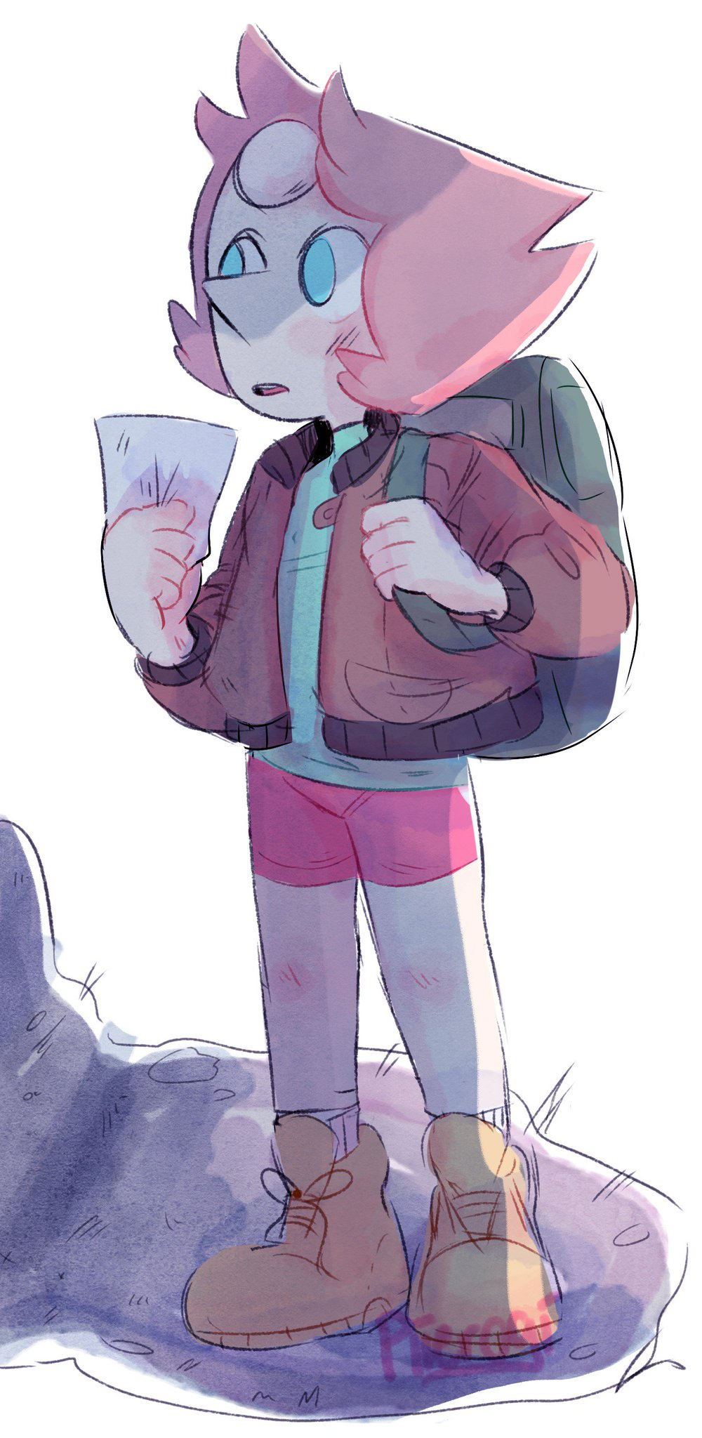 """searching for herself #pearl #StevenUniverse  #its8amicantsleep"""