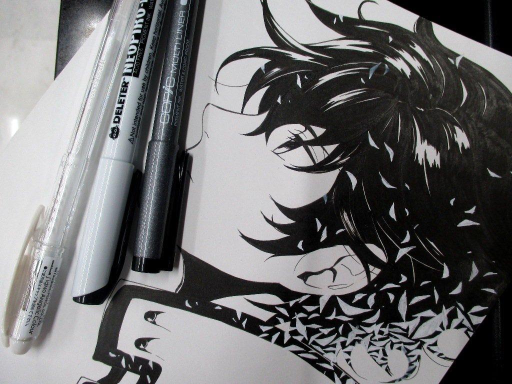 アニメイト仙台 On Twitter 画材①本日はホワイトペンをご紹介黒