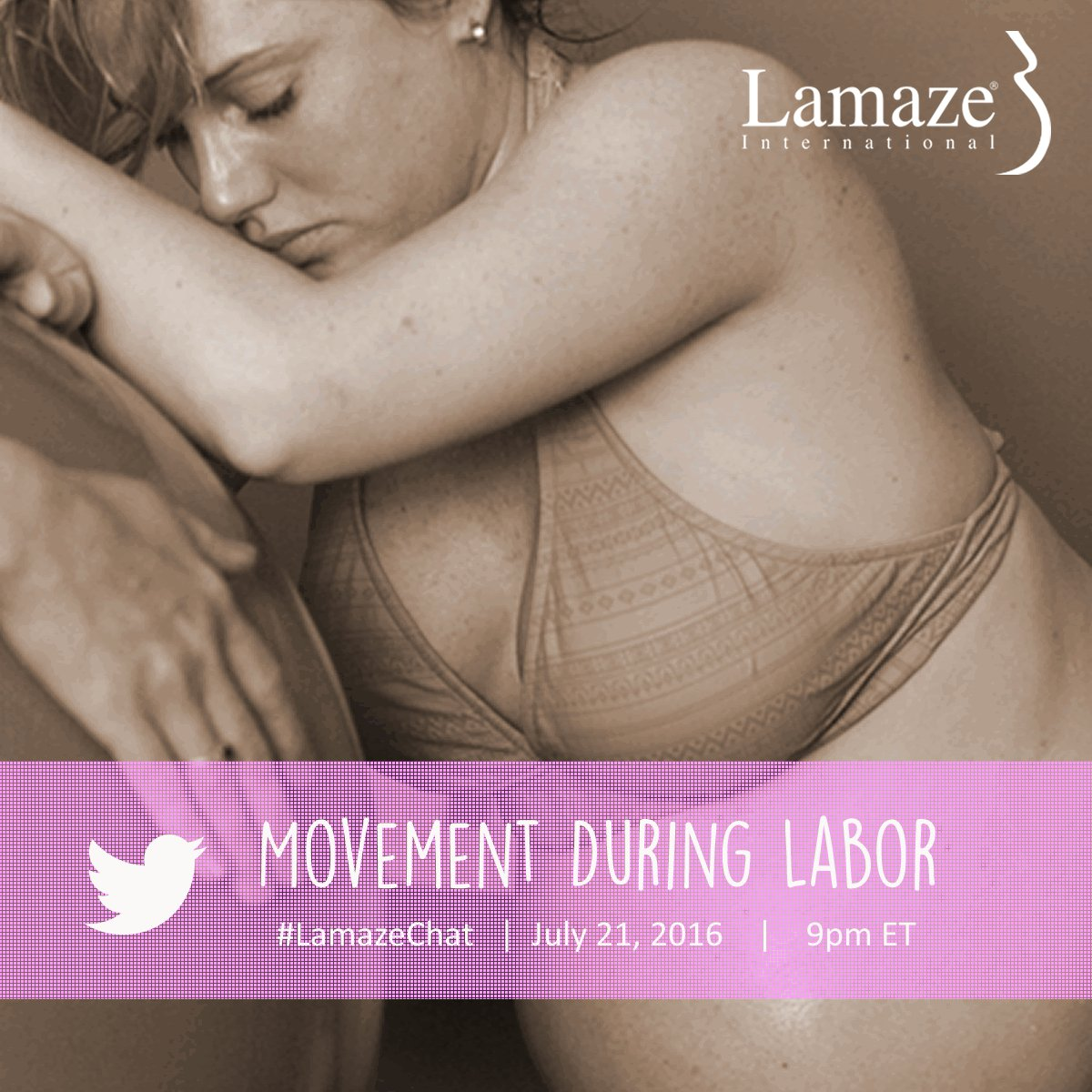 Please share! See you next Thursday, July 21, for a #LamazeChat on movement during labor. 9pm ET. https://t.co/KbqFHNpNt7