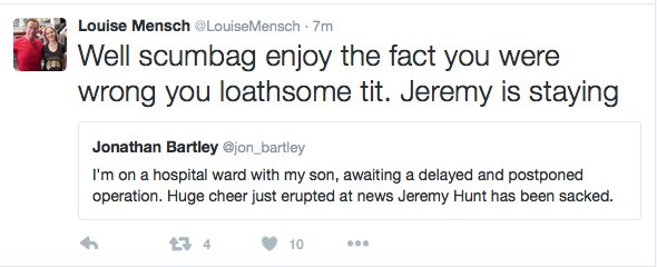 As a father waits for his son to come out of surgery, @LouiseMensch is Louise Mensch. The absolute state of it. https://t.co/058cPBsOtO