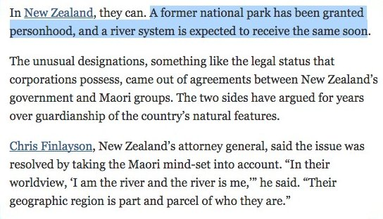 A New Zealand national park has been granted personhood, and a river is next https://t.co/TwhaRHpLmN https://t.co/x0rc5ixexl