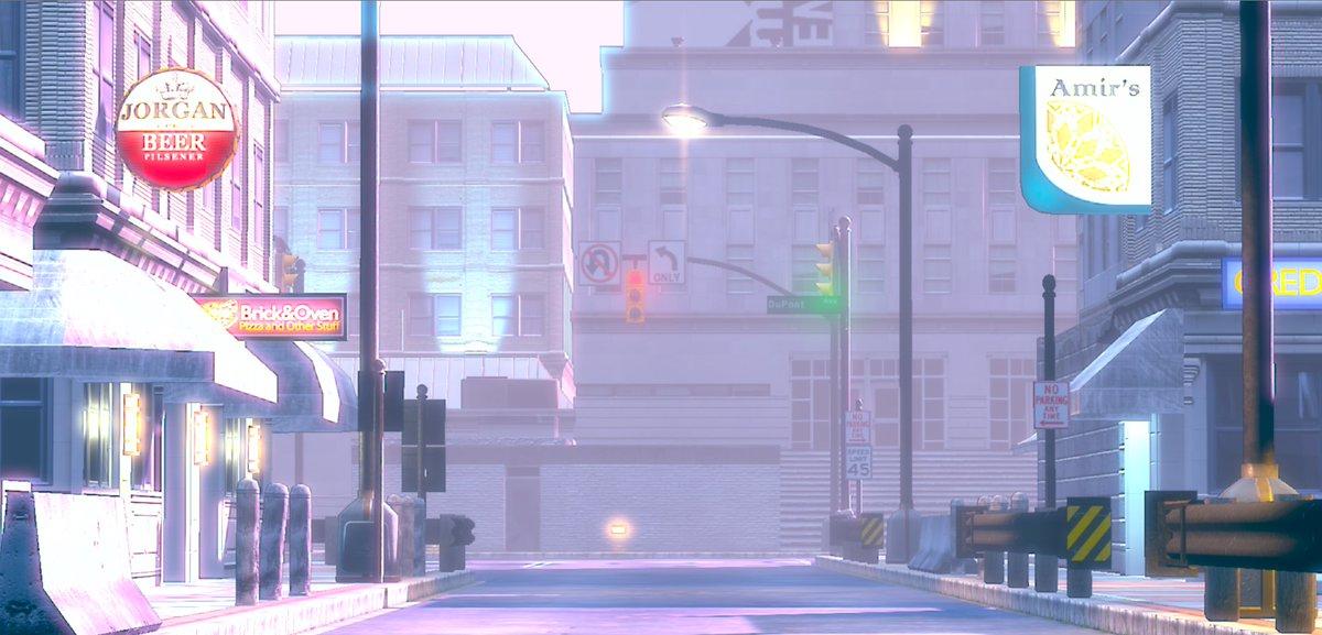 Unityでアニメ背景に挑戦しているが、Field of Viewを調整したらそれっぽくなった気がする。Image Effectかけなくても、それっぽい感じがするな。 https://t.co/vmI3ntzfCG