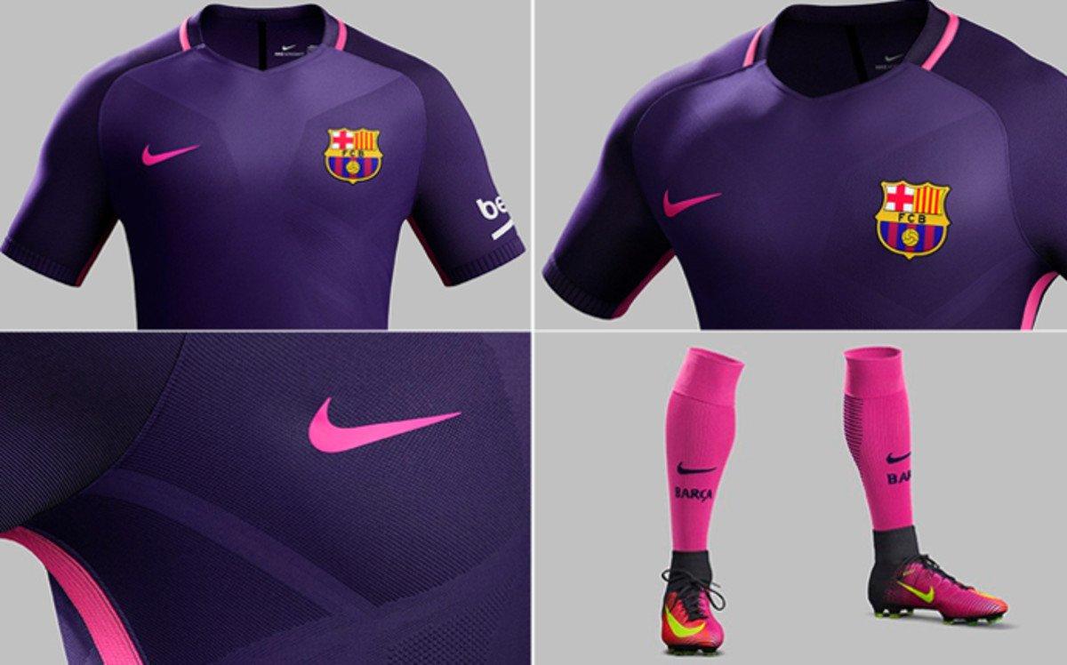 Esta es la camiseta alterna de barcelona para esta temporada ... ae875ca43da