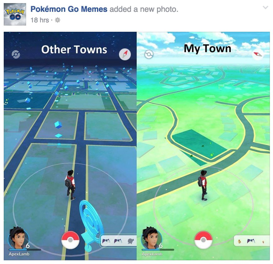 Pokemon Go helps people see how un-walkable their communities are. Is this the trend, or is this pic an exception? https://t.co/fcHjSfZPE9