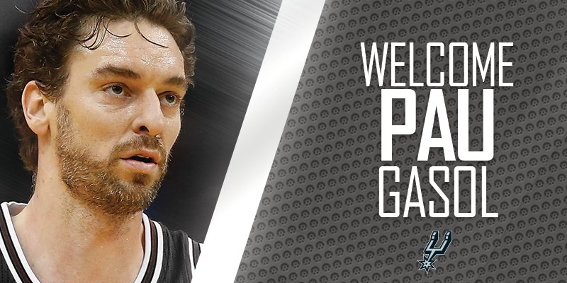 Image result for SAN ANTONIO SPURS UNVEILS PAU GASOL