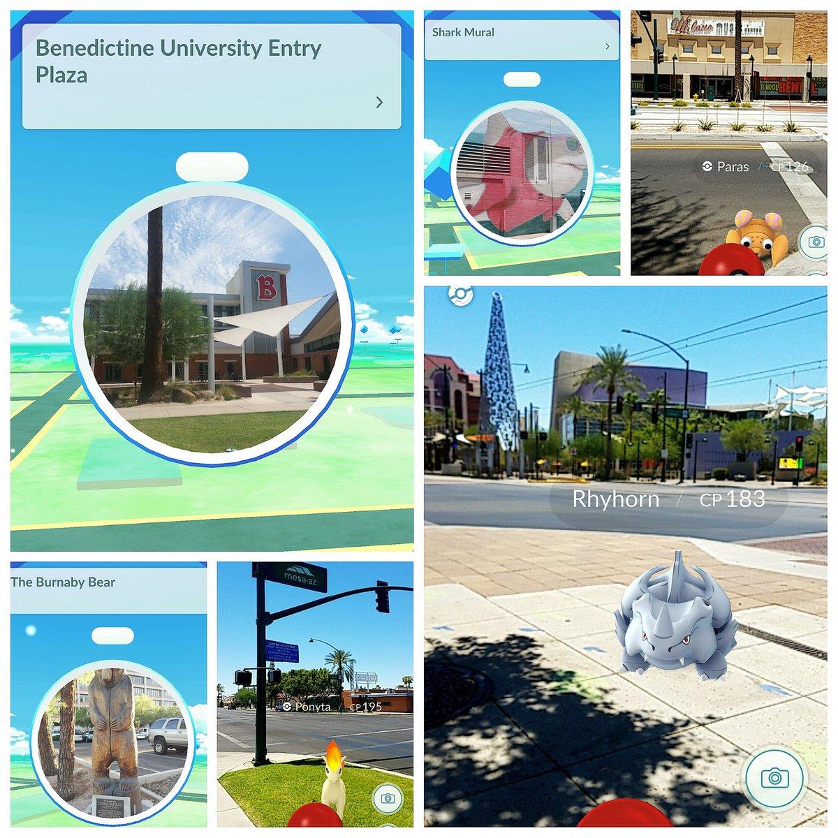 #MesaAZ is full of @Pokemon & #pokestop locations, especially @downtownmesa, #PokemonGO  trainers unite!